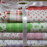 Kit Patchwork Polly, com fat quartes de tecidos nacionais