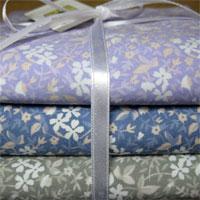 Kit Flor Antique, com tecidos nacionais cortados em meio metro cada