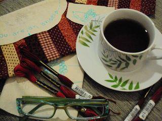 Chá, café, trabalho e hobby