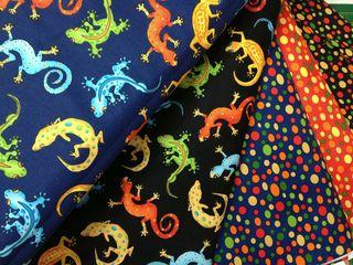Tecidos da coleção Goofy Geckos