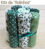 Cada Rolinho mede 50 x 35 cm - oito deles equivalem a 1 m de diferentes tecidos!